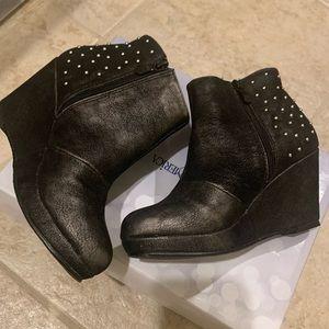Platform Studded Leather Boot